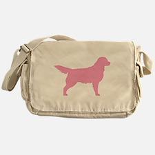 Pink Golden Retriever Messenger Bag