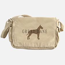 great dane greytones Messenger Bag