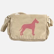 Pink Great Dane Messenger Bag