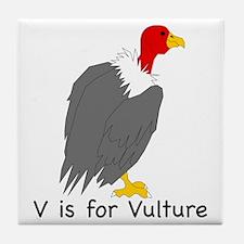 V is for Vulture Tile Coaster