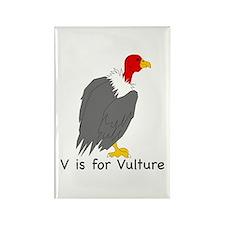 V is for Vulture Rectangle Magnet (100 pack)