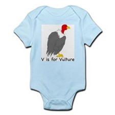 V is for Vulture Infant Bodysuit