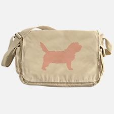 Pink Petit Basset Dog Messenger Bag