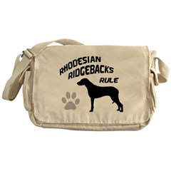 Rhodesian Ridgebacks Rule Messenger Bag