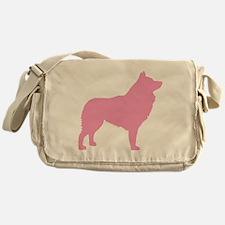 Pink Schipperke Messenger Bag