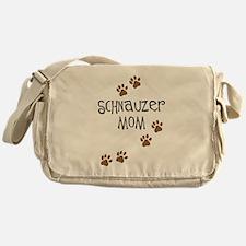 Paw Prints Schnauzer Mom Messenger Bag