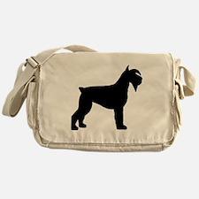Schnauzer Dog Messenger Bag