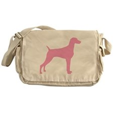 Pink Weimaraner Messenger Bag