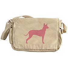Xolo Dog Pink Profile Messenger Bag