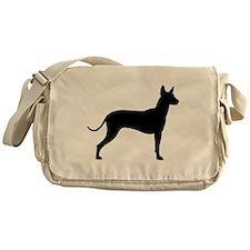 Xoloitzcuintli Profile Messenger Bag