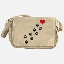 Paw Prints To My Heart Messenger Bag