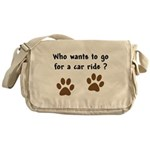 Paw Prints Dog Car Ride Messenger Bag