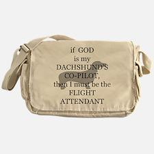 dachshund attendant Messenger Bag