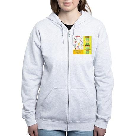 Chipmunk/Grandma Women's Zip Hoodie
