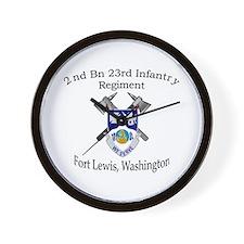 2nd Bn 23rd Infantry Wall Clock
