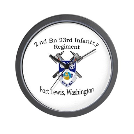 2nd Bn 23rd Infantry Wall Clock