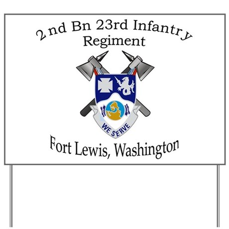 2nd Bn 23rd Infantry Yard Sign
