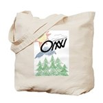 Two-sided ONN sketched Tote Bag