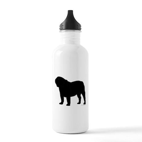 Bulldog Outline Stainless Water Bottle 1.0L