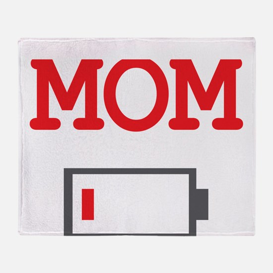 Mom Low Battery Throw Blanket