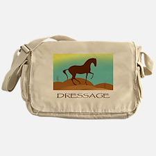 desert dressage w/ text Messenger Bag