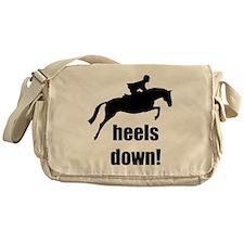 heels down jumper Messenger Bag