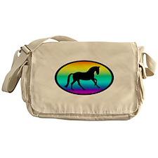 Canter Horse Rainbow Oval Messenger Bag