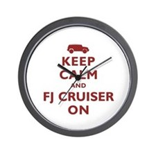 Keep Calm and FJ Cruiser On Wall Clock