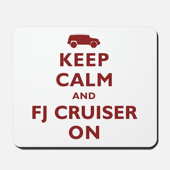 Keep Calm and FJ Cruiser On Mousepad