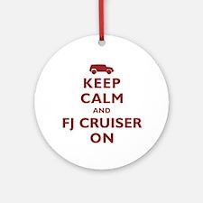 Keep Calm and FJ Cruiser On Ornament (Round)