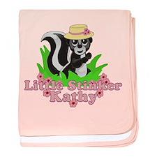Little Stinker Kathy baby blanket