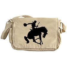 Bucking Bronc Cowboy Messenger Bag