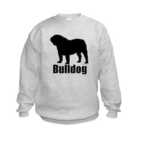 Bulldog Outline Kids Sweatshirt