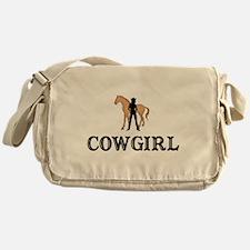 Cowgirl & Horse Messenger Bag