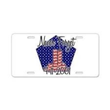 Cute Twin towers Aluminum License Plate