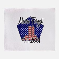 Funny World trade center Throw Blanket