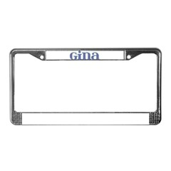 Gina Blue Glass License Plate Frame