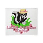 Little Stinker Katie Throw Blanket
