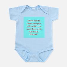 Plutarch's wisdom Infant Bodysuit