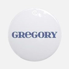 Gregory Blue Glass Round Ornament