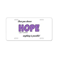 Once You Choose HOPE Aluminum License Plate