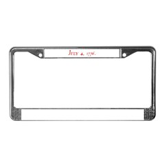 DECLARATION 3 License Plate Frame
