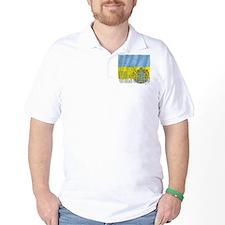 Silky Flag of Ukraine T-Shirt