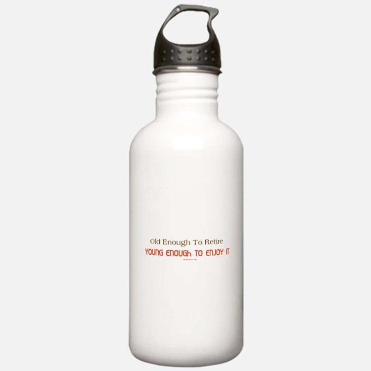 Young Retiree Water Bottle