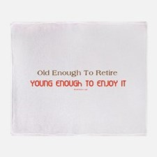 Young Retiree Throw Blanket