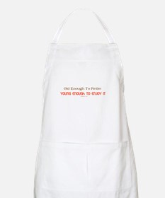 Young Retiree Apron