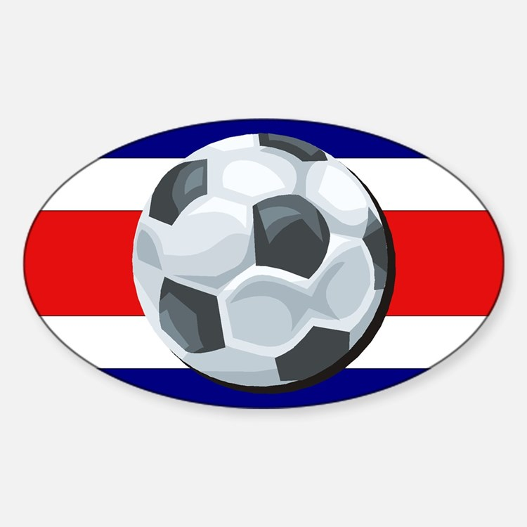 Costa Rica Soccer Oval Decal