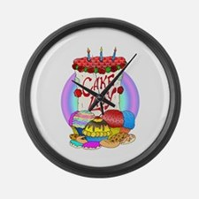 Cake Lady Baked Goods Large Wall Clock