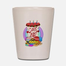 Cake Lady Baked Goods Shot Glass