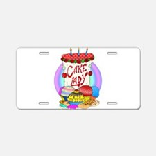Cake Lady Baked Goods Aluminum License Plate